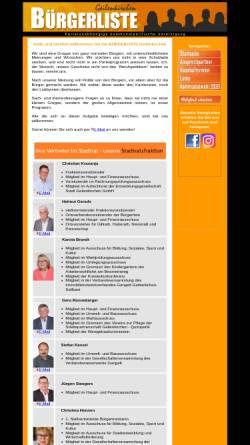 Vorschau der mobilen Webseite buergerliste-geilenkirchen.de, Bürgerliste Geilenkirchen