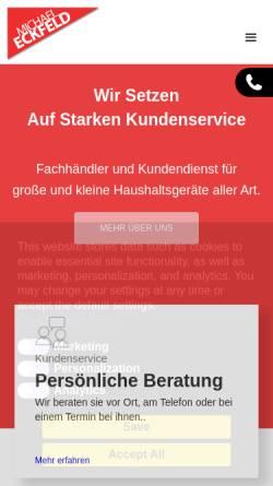 Vorschau der mobilen Webseite www.elektro-eckfeld.de, Elektro Eckfeld