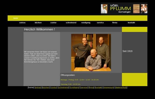 Vorschau von www.moebel-pflumm.de, Gottfried Pflumm GmbH + Co