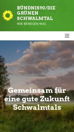 Vorschau der mobilen Webseite www.gruene-schwalmtal.de, Bündnis 90/Die Grünen Nettetal