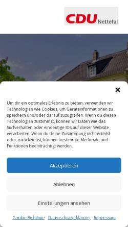 Vorschau der mobilen Webseite www.cdu-nettetal.de, CDU Nettetal