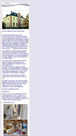 Vorschau der mobilen Webseite www.pension-sonja-im-erzgebirge.de, Frühstückspension Sonja Dauer