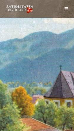 Vorschau der mobilen Webseite www.antik-toelzerland.de, Antiquitäten Tölzer Land