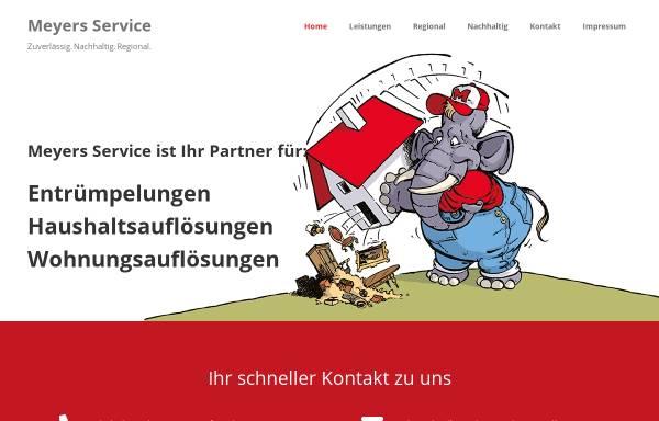 Vorschau von meyers-service.de, Meyers Service rund ums Haus