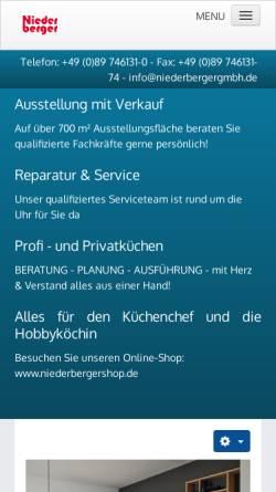 Vorschau der mobilen Webseite www.niederbergergmbh.de, Niederberger GmbH