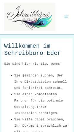 Vorschau der mobilen Webseite www.schreibbuero-lenggries.de, Schreibbüro Lenggries