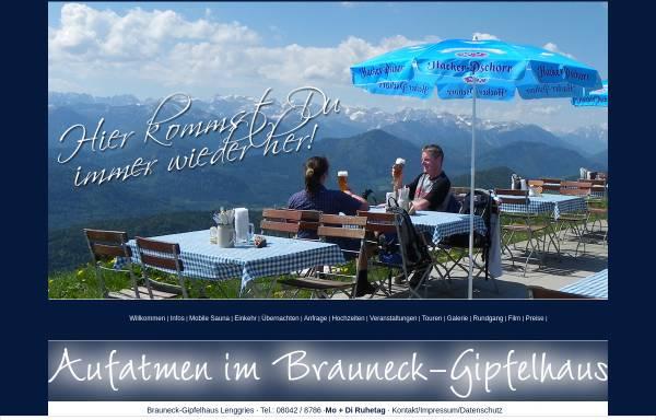 Vorschau von www.brauneckgipfelhaus.de, Brauneck Gipfelhaus