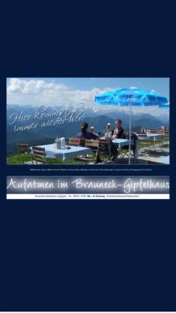 Vorschau der mobilen Webseite www.brauneckgipfelhaus.de, Brauneck Gipfelhaus