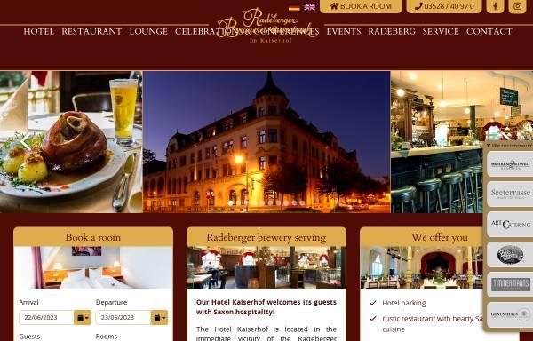 Vorschau von www.kaiserhof-radeberg.de, Hotel Kaiserhof