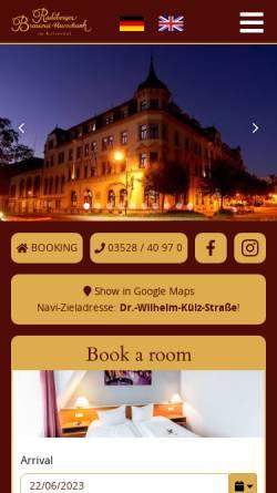 Vorschau der mobilen Webseite www.kaiserhof-radeberg.de, Hotel Kaiserhof