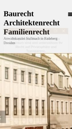 Vorschau der mobilen Webseite www.kanzlei-stallmach.de, Anwaltskanzlei Olaf Stallmach