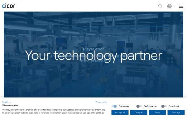 Vorschau von www.cicor.com, Cicor – Rhe Microsystems GmbH