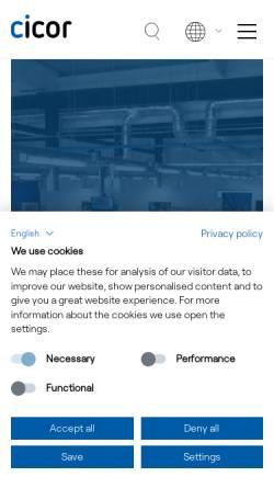Vorschau der mobilen Webseite www.cicor.com, Cicor – Rhe Microsystems GmbH