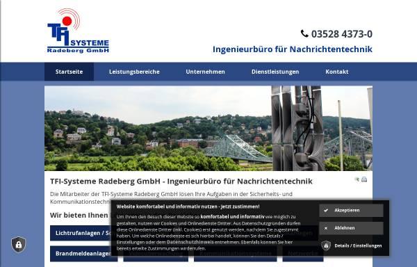 Vorschau von www.tfi-radeberg.de, TFI-Systeme Radeberg GmbH