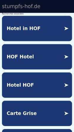 Vorschau der mobilen Webseite www.stumpfs-hof.de, Stumpf´s Hof
