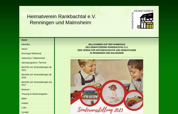 Vorschau von www.heimatverein-rankbachtal.de, Heimatmuseum