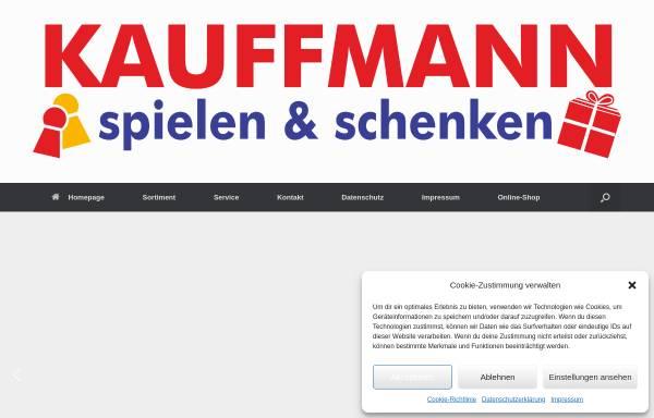 Vorschau von kauffmann-spielwaren.de, KAUFFMANN spielen & schenken GmbH