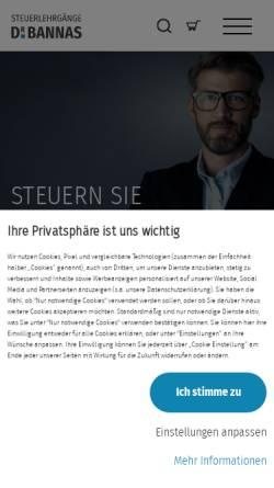 Vorschau der mobilen Webseite www.steuerberateronline.com, Steuerlehrgänge Dr. Bannas GmbH