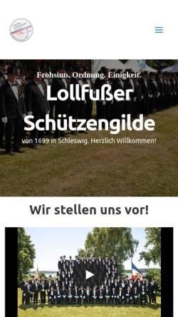 Vorschau der mobilen Webseite www.lollfusser-schuetzengilde.de, Lollfußer Schützengilde von 1699 e.V. zu Schleswig