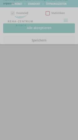 Vorschau der mobilen Webseite www.rehazentrum-gmuend.de, Reha-Zentrum Gmünd