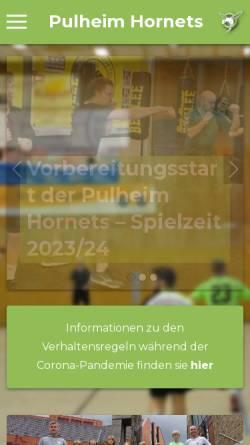 Vorschau der mobilen Webseite pulheim-hornets.de, Pulheimer Sport-Club 1924/57 e.V.