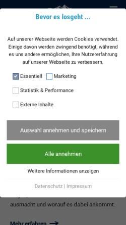 Vorschau der mobilen Webseite www.bergader.de, Bergader Privatkäserei GmbH