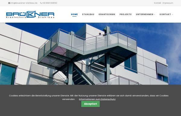 Vorschau von www.brueckner-stahlbau.de, Brückner Krantechnik und Stahlbau GmbH & Co KG