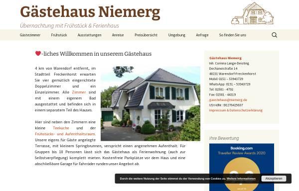 Vorschau von www.niemerg.de, Gästehaus Niemerg