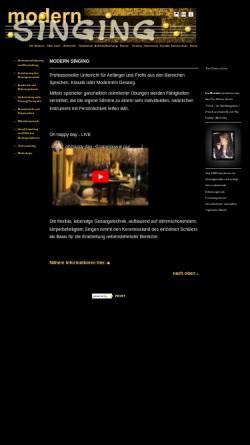 Vorschau der mobilen Webseite modern-singing.de, Mertash, Ina