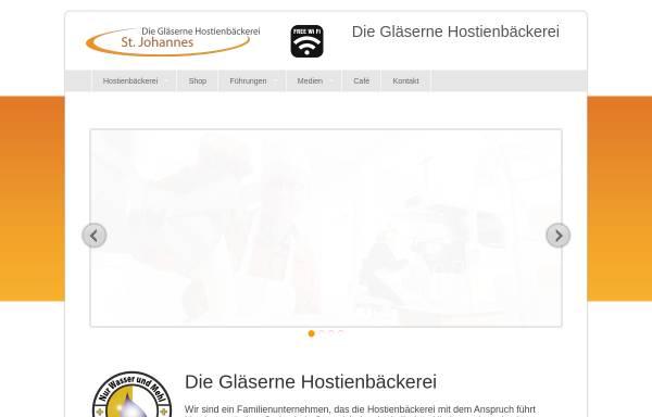 Vorschau von www.hostie.de, Hostienbäckerei Kloster Vinnenberg