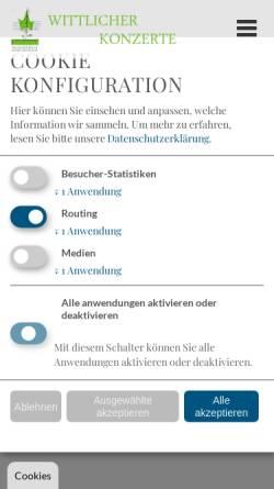 Vorschau der mobilen Webseite www.wittlicher-konzerte.de, Wittlicher Konzerte