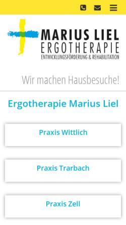 Vorschau der mobilen Webseite www.ergotherapie-wittlich.de, Ergotherapie Martin Schäfer