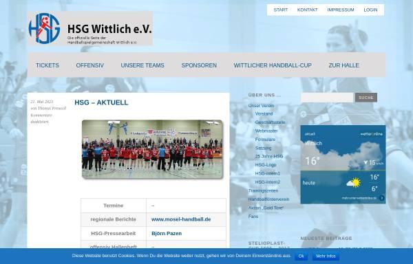 Vorschau von www.hsg-wittlich.de, HSG Wittlich e.V.