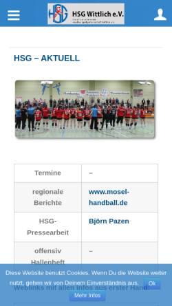 Vorschau der mobilen Webseite www.hsg-wittlich.de, HSG Wittlich e.V.