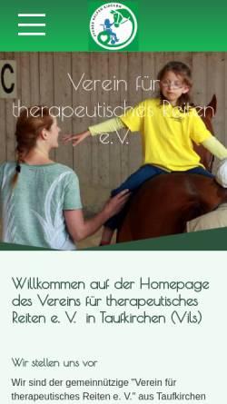 Vorschau der mobilen Webseite www.hippo-taufkirchen.de, Verein für therapeutisches Reiten