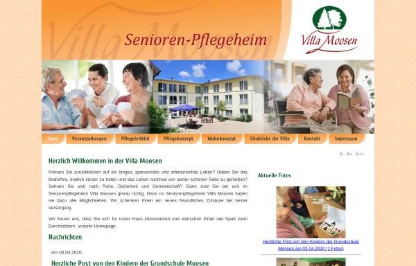 Vorschau von www.villa-moosen.de, Villa Moosen - Senioren- Pflegeheim