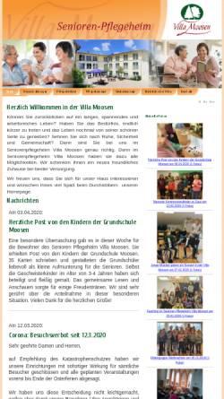 Vorschau der mobilen Webseite www.villa-moosen.de, Villa Moosen - Senioren- Pflegeheim