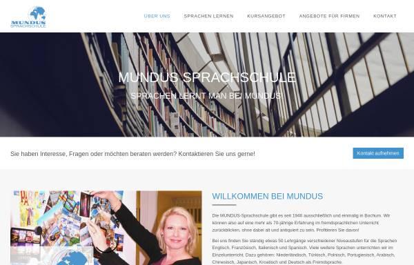 Vorschau von www.mundus-sprachschule.de, Mundus-Sprachschule