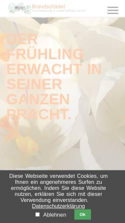 Vorschau der mobilen Webseite www.brandschaedel.de, Brandschaedel - Gartenplanung und Landschaftsbau