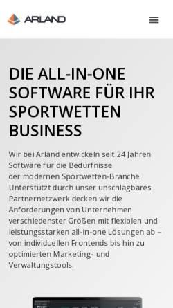 Vorschau der mobilen Webseite www.arland.at, Arland Gesellschaft für Informationstechnologie mbH