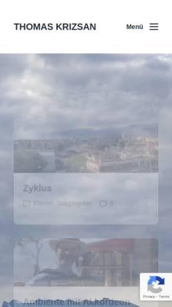 Vorschau der mobilen Webseite www.thomaskrizsan.de, Krizsan,Thomas