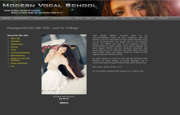 Vorschau von www.modern-vocal-school.de, Modern Vocal School