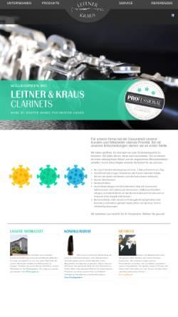 Vorschau der mobilen Webseite www.leitner-kraus.de, Leitner und Kraus, Neustadt/Aisch
