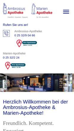 Vorschau der mobilen Webseite www.ambrosius-apotheke.de, Ambrosius-Apotheke