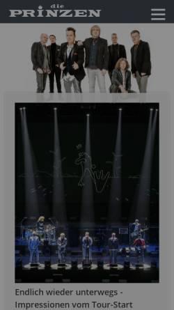 Vorschau der mobilen Webseite www.dieprinzen.de, Prinzen, Die