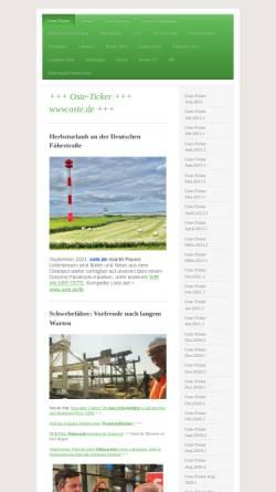 Vorschau der mobilen Webseite www.osteland.de, Arbeitsgemeinschaft Osteland e. V.