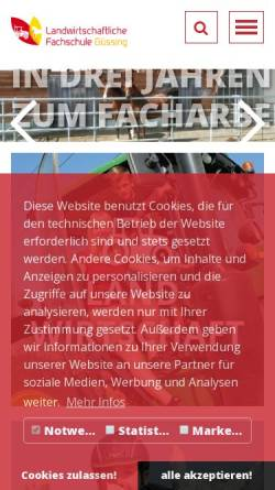 Vorschau der mobilen Webseite www.lfsguessing.at, Landwirtschaftliche Fachschule Güssing