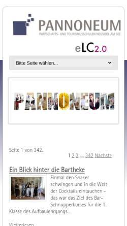 Vorschau der mobilen Webseite www.pannoneum.at, Pannoneum Neusiedl am See