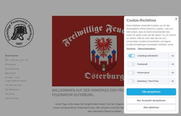 Vorschau von www.feuerwehr-osterburg.de, Freiwillige Feuerwehr Osterburg
