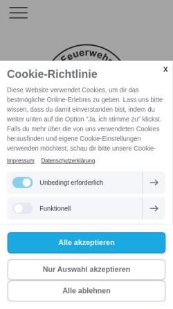Vorschau der mobilen Webseite www.feuerwehr-osterburg.de, Freiwillige Feuerwehr Osterburg